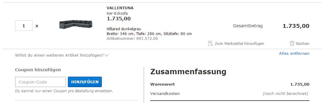 Ikea Gutschein einlösen