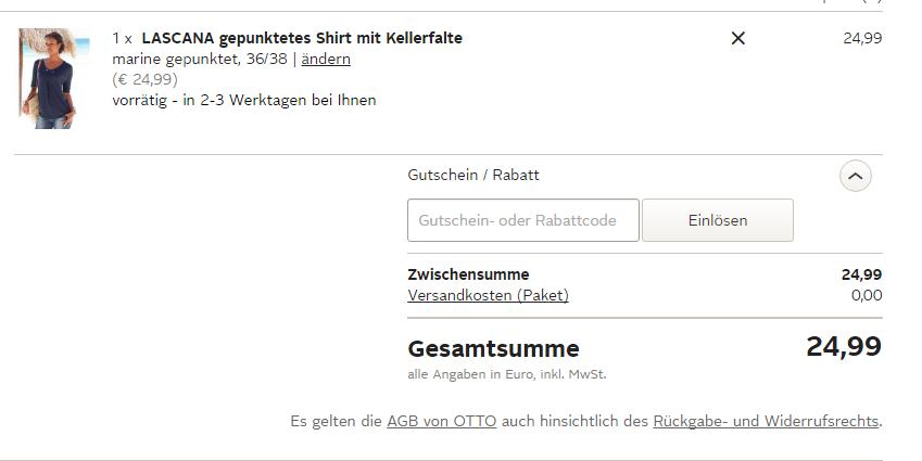 Otto Gutschein einlösen