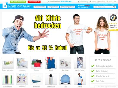 Bildschirmfoto für druckdichdrauf.de