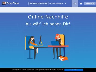 Bildschirmfoto für easy-tutor.de