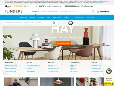 Bildschirmfoto für flinders.de