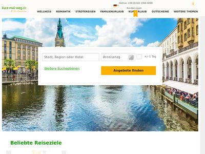 Bildschirmfoto für Kurz-Mal-Weg.de