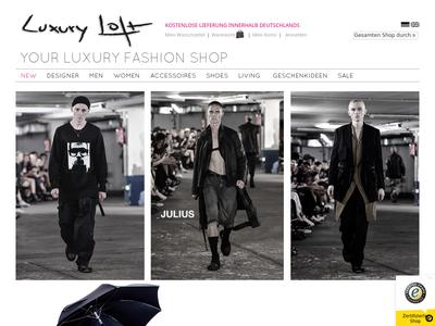 Bildschirmfoto für luxuryloft.eu