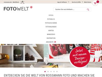 Bildschirmfoto für rossmann-fotowelt.de