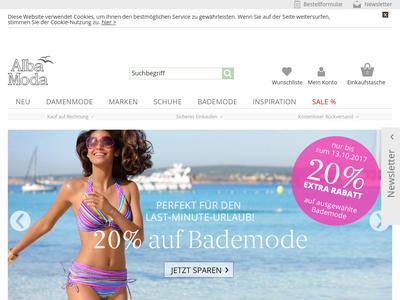 Bildschirmfoto für ALBA MODA