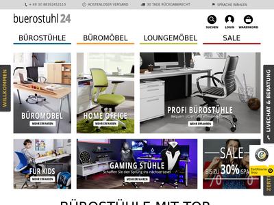Bildschirmfoto für Buerostuhl24