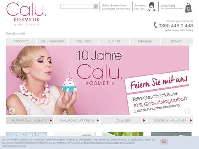 Bildschirmfoto für calu.de