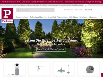 Bildschirmfoto für paulmann.com