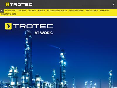 Bildschirmfoto für Trotec
