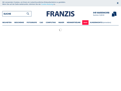 Bildschirmfoto für FRANZIS