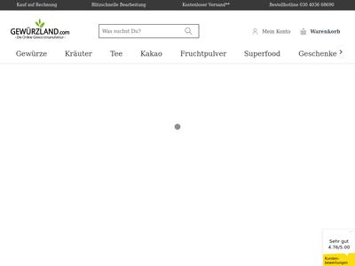Bildschirmfoto für gewuerzland.com