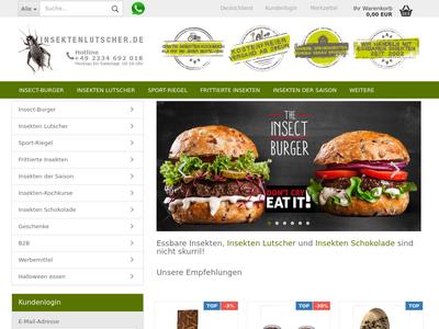Bildschirmfoto für Insektenlutscher.de