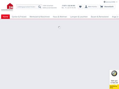 Bildschirmfoto für markenbaumarkt24.de