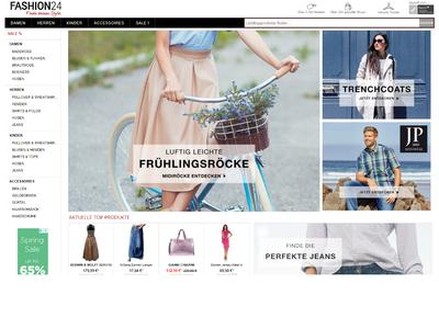 Bildschirmfoto für Fashion24.de