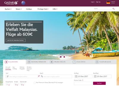 Bildschirmfoto für Qatar Airways