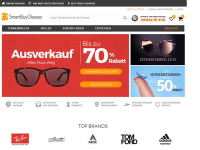 Bildschirmfoto für SmartBuyGlasses