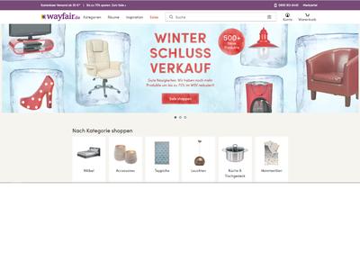 Bildschirmfoto für Wayfair