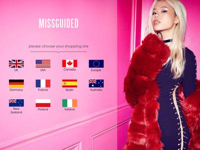 Bildschirmfoto für missguided.com