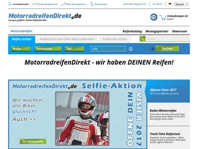 Bildschirmfoto für MotorradreifenDirekt.de