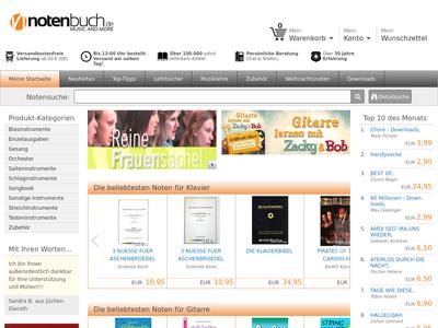Bildschirmfoto für Notenbuch.de