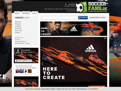 Bildschirmfoto für Soccer-Fans-Shop
