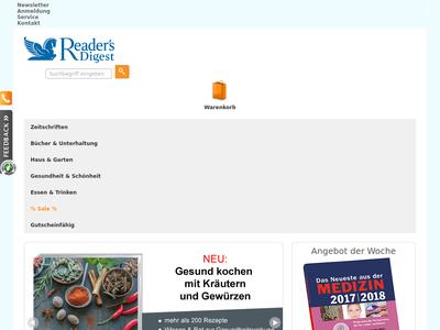 Bildschirmfoto für readersdigest-shop.de