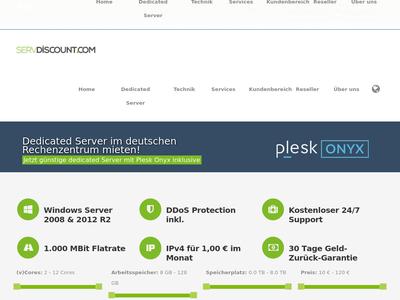 Bildschirmfoto für Servdiscount