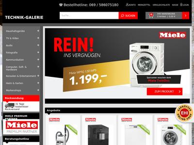Bildschirmfoto für technikgalerie.de