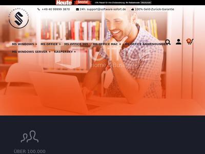 Bildschirmfoto für software-sofort.de