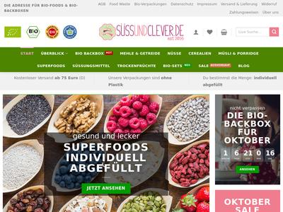 Bildschirmfoto für süssundclever.de