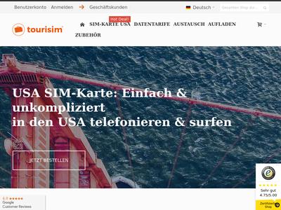 Bildschirmfoto für tourisim.de