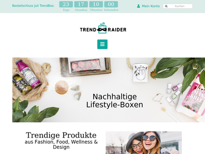 Bildschirmfoto für trendraider.de