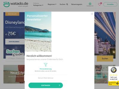 Bildschirmfoto für watado.de
