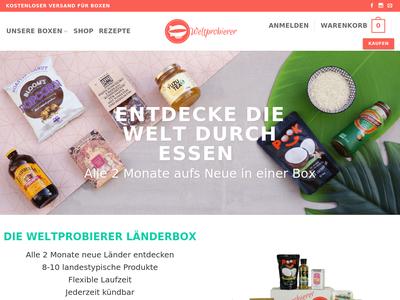 Bildschirmfoto für weltprobierer.de