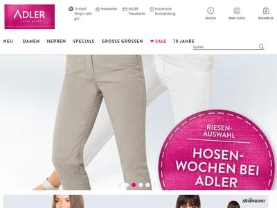 Bildschirmfoto für ADLER