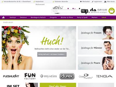 Bildschirmfoto für Adultshop.de