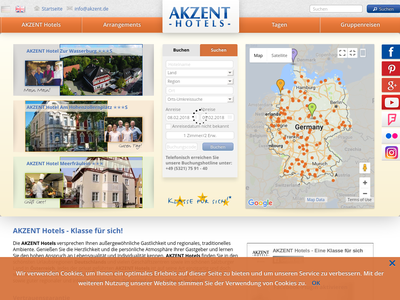 Bildschirmfoto für Akzent Hotel