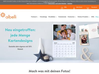 Bildschirmfoto für albelli