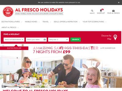 Bildschirmfoto für alfresco-holidays.com