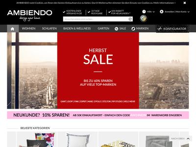 Bildschirmfoto für AMBIENDO