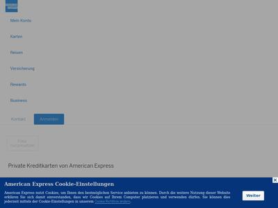 Bildschirmfoto für American Express