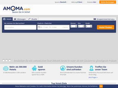Bildschirmfoto für AMOMA.com