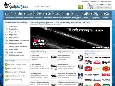 Bildschirmfoto für AngelPlatz.de