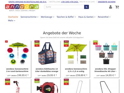 Bildschirmfoto für anndora.de