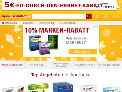 Bildschirmfoto für apodiscounter.de