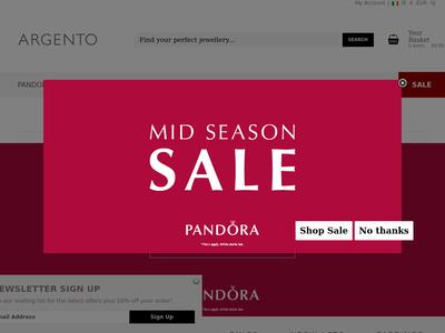 Bildschirmfoto für argento.com