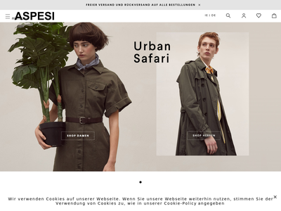 Bildschirmfoto für aspesi.com