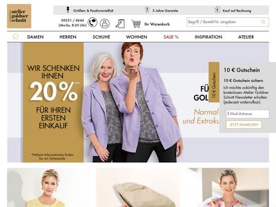 Bildschirmfoto für Atelier Goldner Schnitt