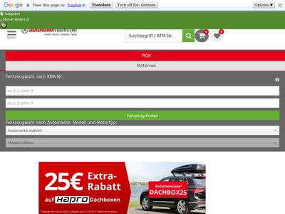 Bildschirmfoto für autoteilemann.de