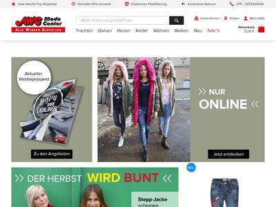 Bildschirmfoto für awg-mode.de